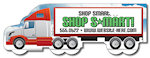 5.0 X 1.70 inch Semi Truck Shape Magnets
